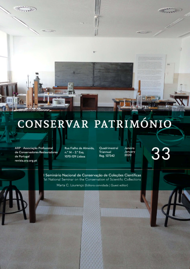 View Vol. 33 (2020): 1st National Seminar on the Conservation of Scientific Collections